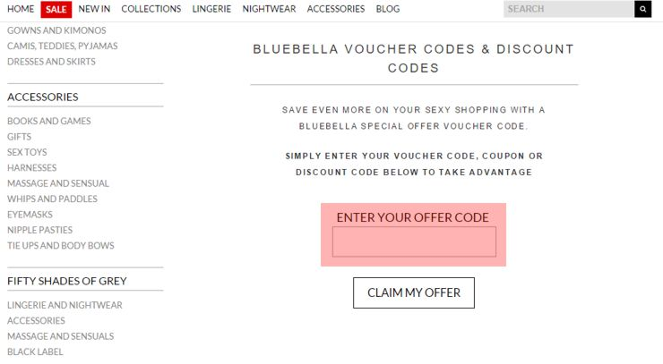 redeeming bluebella.com voucher-code