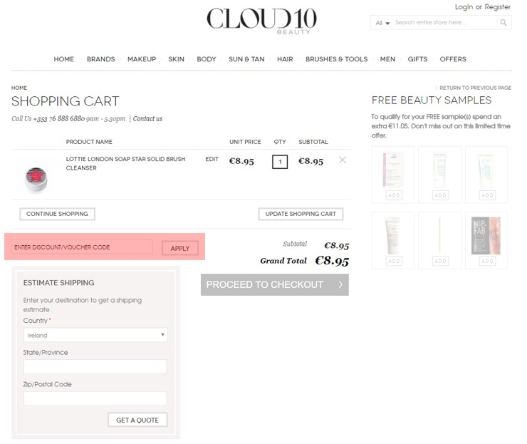 redeeming cloud10beauty.com voucher-code
