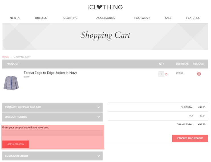 redeeming iclothing.com voucher-code