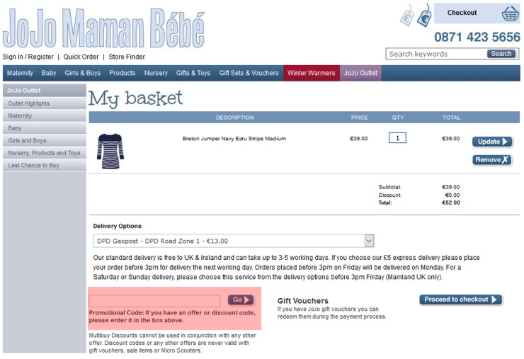 redeeming jojomamanbebe.ie voucher-code