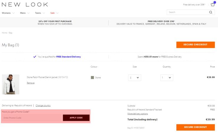 redeeming newlook.com voucher-code