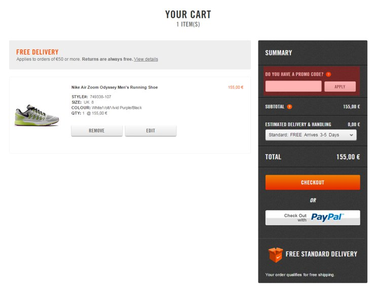 how to get free shipping on nike store