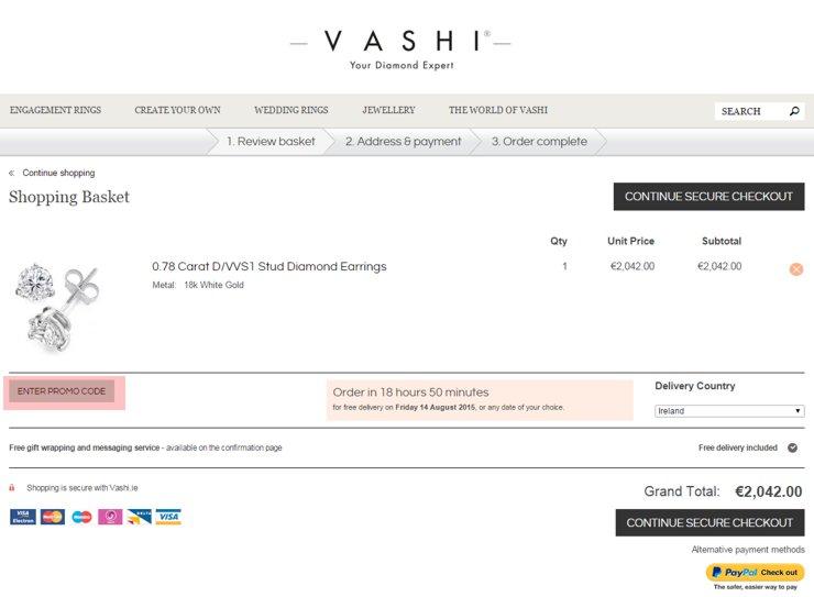 redeeming vashi.ie voucher-code