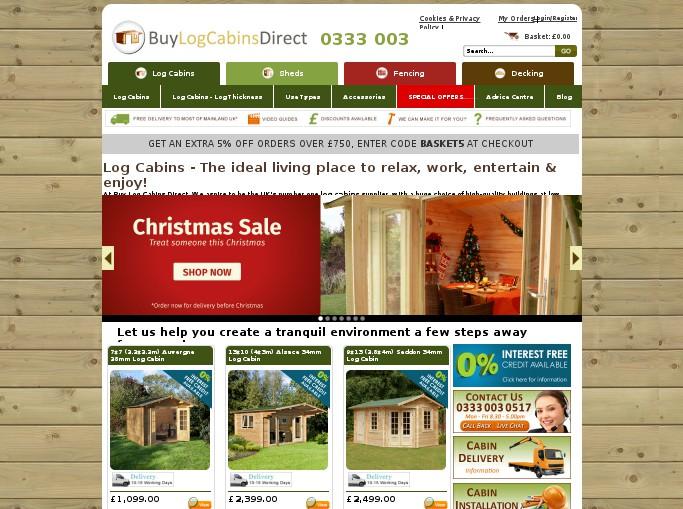Buy Log Cabins Direct Voucher