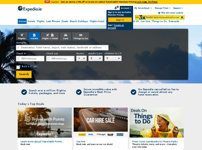 Infos On Expedia Ireland