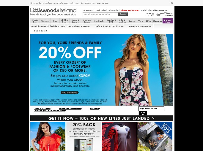 Find the latest Littlewoods Ireland discount codes and offers from dionsnowmobilevalues.ml Search through popular Littlewoods Ireland deals to make sure you get the best price.