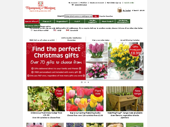 Popular Thompson and Morgan Discount Offers – Make the best use of time & 20% Off your order. Excludes Sundries and Wild Birdfood at Thompson and Morgan. The deal is absolutely free and expires on So make the best use of your time and money with Thompson and Morgan Discount .